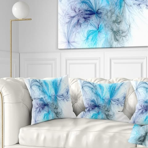 Designart 'Christmas Fireworks Light Blue' Abstract Throw Pillow
