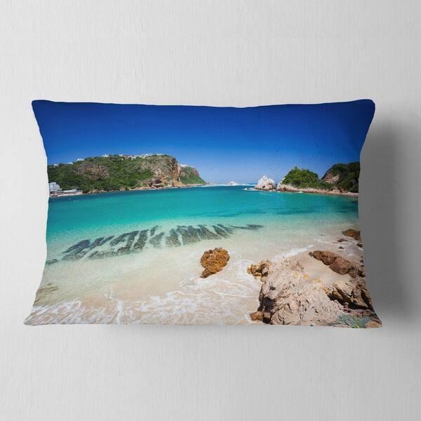 Designart Beautiful Knysna Beach South Africa Seashore Throw Pillow On Sale Overstock 20951235