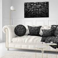 Designart 'Black 3D Geometric Background' Abstract Throw Pillow