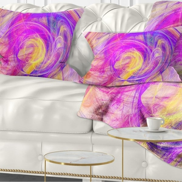 Designart Purple Mystic Psychedelic Texture Abstract Throw Pillow On Sale Overstock 20951434