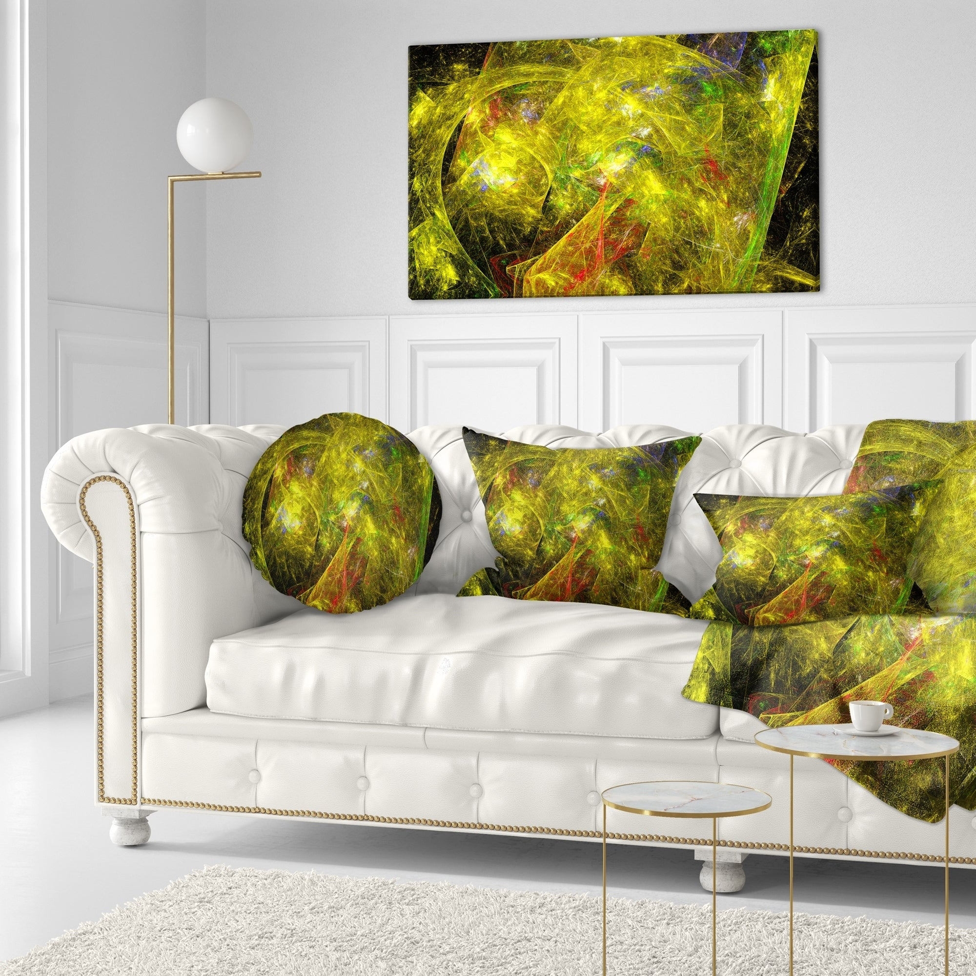 Designart Golden Mystic Psychedelic Texture Abstract Throw Pillow On Sale Overstock 20951448