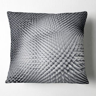Design Artdesignart Small 3d White Prickly Design Abstract Throw Pillow Square 16 In X 16 In Small Dailymail