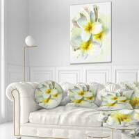 Designart 'Frangipani Flowers Watercolor' Floral Throw Pillow