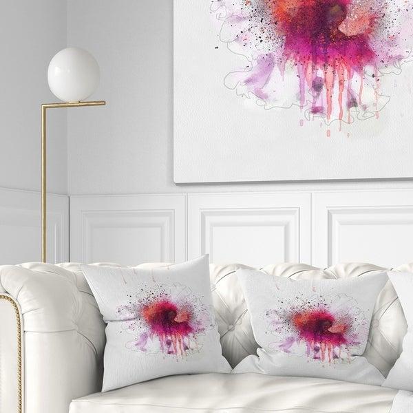 Shop Designart Stylish Pink Watercolor Flower Floral