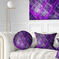 Designart 'Purple Abstract Metal Grill' Abstract Throw Pillow