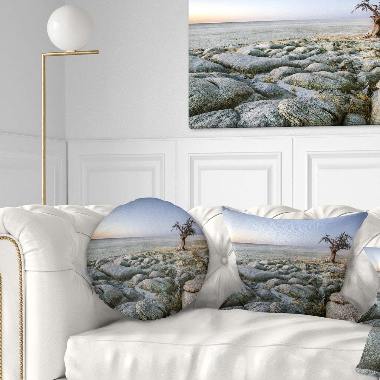 Designart Baobab Tree On Rocky Terrain Landscape Printed Throw Pillow On Sale Overstock 20951599