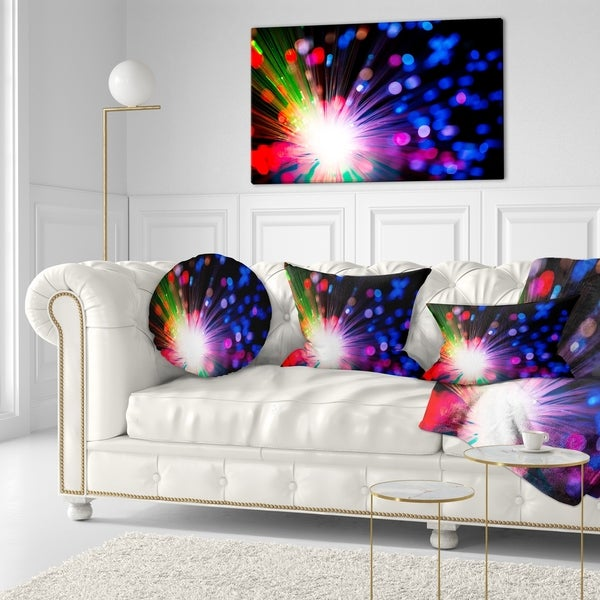x 16 in in Designart CU13818-16-16 Multicolor Optical Fiber Lighting Abstract Cushion Cover for Living Room Insert Printed On Both Side Sofa Throw Pillow 16 in