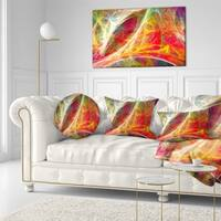 Designart 'Mystic Red Fractal' Abstract Throw Pillow