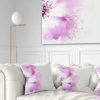 Designart 'Abstract Purple Daisy Flower' Flowers Throw Pillowwork