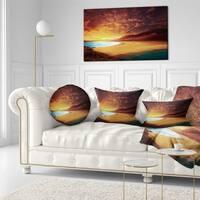 Designart 'Cofete Beach Fuerteventura' Landscape Printed Throw Pillow
