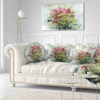 Designart 'Bouquets Of Roses Painting Art' Floral Throw Pillow