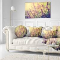Designart 'Vintage Photo of Wild Purple Flower' Floral Throw Pillow