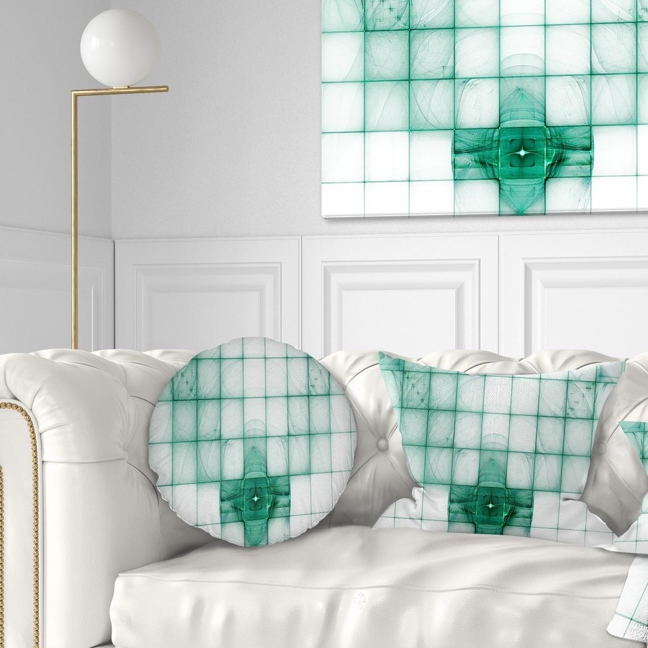 Designart Light Blue Bat On Radar Screen Abstract Throw Pillow On Sale Overstock 20952601
