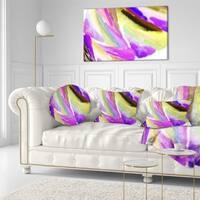Designart 'Purple Vibrant Brushstrokes' Abstract Throw Pillow