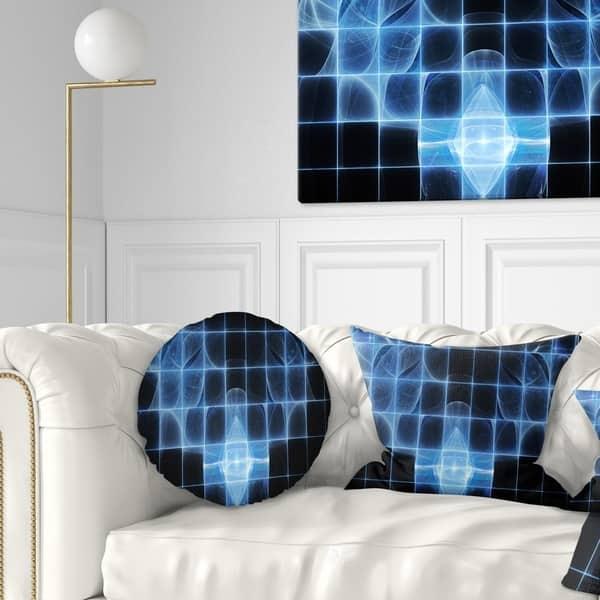 Designart Bright Blue Bat On Radar Screen Abstract Throw Pillow On Sale Overstock 20952629