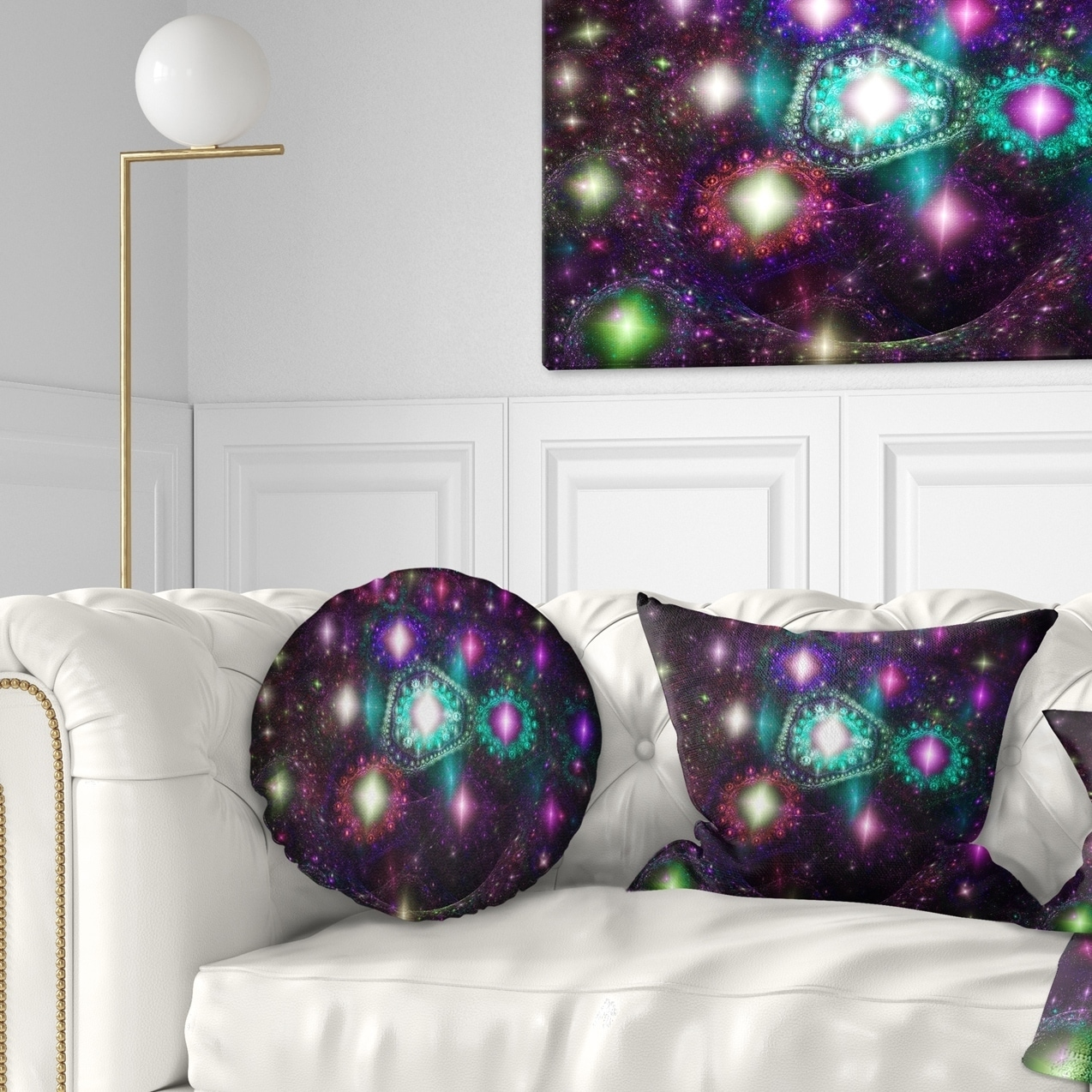 Designart Far Bright Colorful Space Galaxy Abstract Throw Pillow On Sale Overstock 20952704