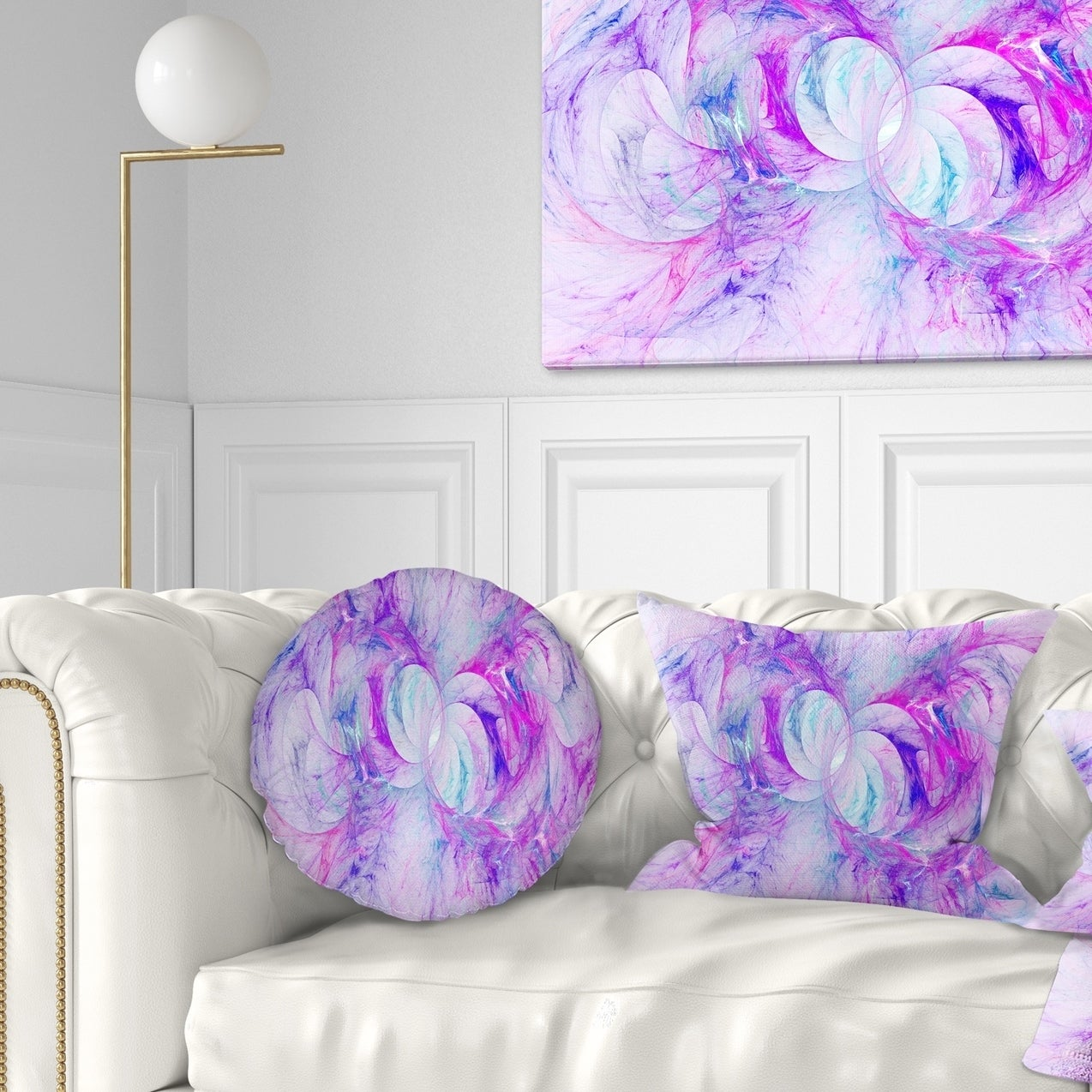 Sofa 18 X 18 Designart Cu14471 18 18 Unique Purple Fractal Art Pattern Abstract Throw Cushion Pillow Cover For Living Room Throw Pillow Covers Home Kitchen