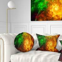 Designart 'Yellow Rotating Polyhedron' Abstract Throw Pillow