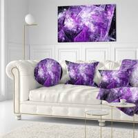 Designart 'Mystic Purple Fractal' Abstract Throw Pillow