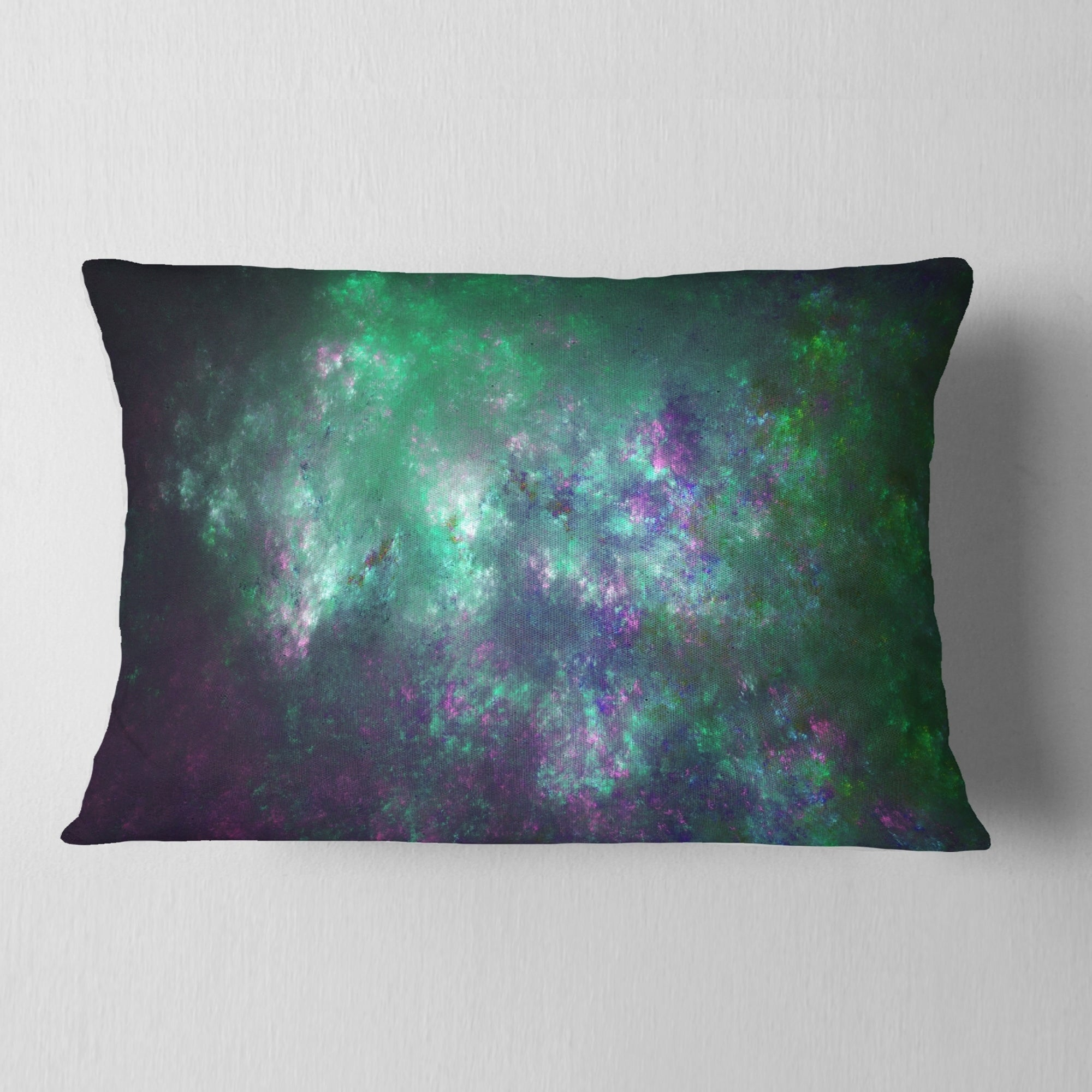 X 18 In Insert Printed On Both Side In Sofa Throw Pillow 18 In Designart Cu16368 18 18 Green Starry Fractal Sky Abstract Cushion Cover For Living Room Throw Pillow Covers Decorative Pillows Inserts