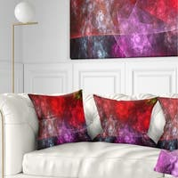 Designart 'Red Purple Symphony of Gems' Abstract Throw Pillow