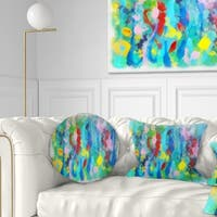 Designart 'Hand drawn Multi color Floral Pattern' Abstract Throw Pillow