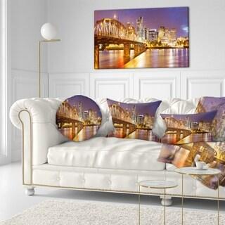 Designart 'Skyline of Portland Panorama' Cityscape Throw Pillow