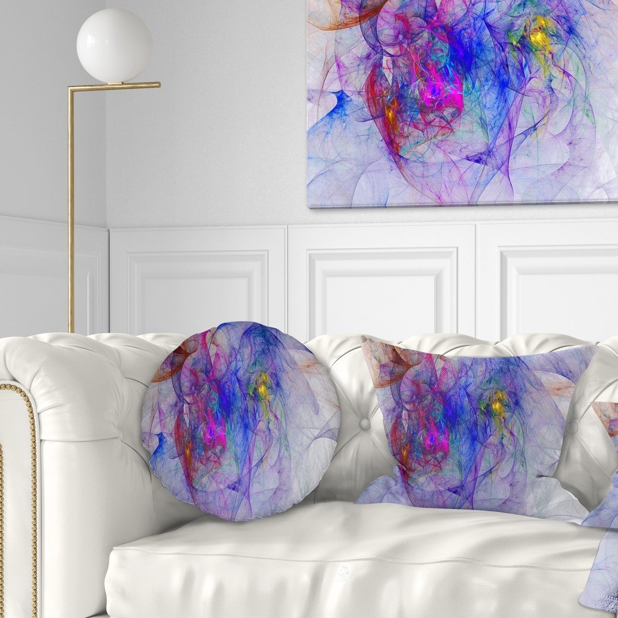 Designart Blue Mystic Psychedelic Texture Abstract Throw Pillow Overstock 20953386