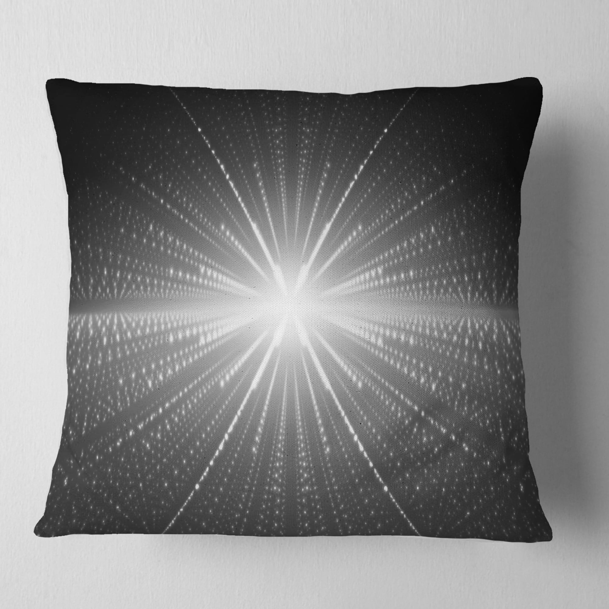 Designart Glowing Star In Cosmic Galaxy Abstract Throw Pillow Overstock 20953424