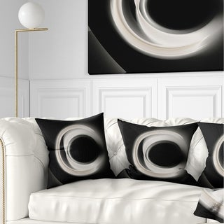 Designart 'Fractal White on Black Background' Abstract Throw Pillow