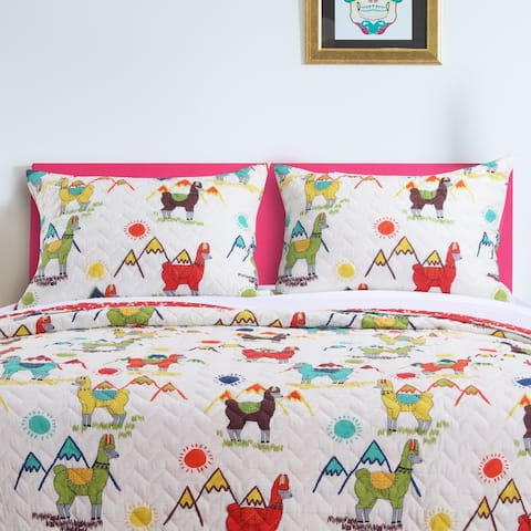 Barefoot Bungalow Cuzco Llama Pillow Sham Set (Set of Two Shams)