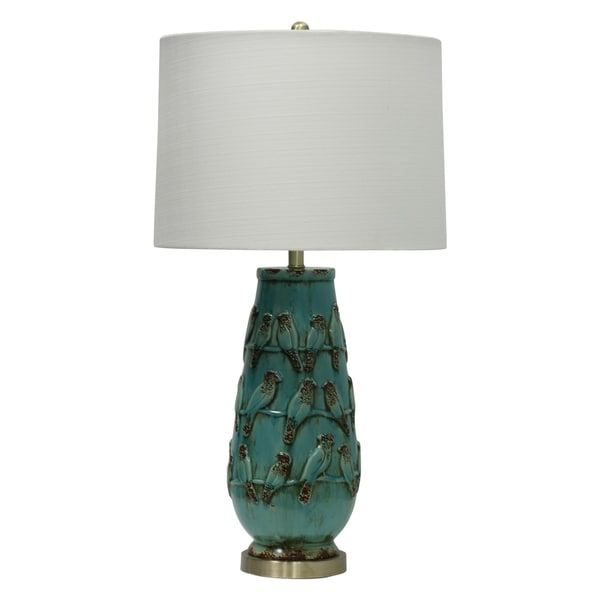 Shop Hawkesbury Ceramic Turquoise Table Lamp White