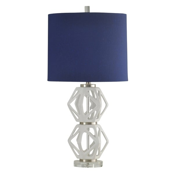 Shop Ceramic Blaine Table Lamp Royal Blue Hardback