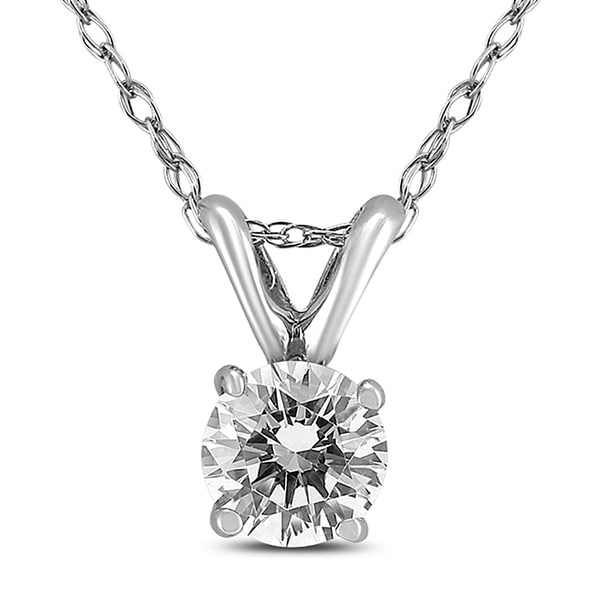 71cf9114dd Shop PREMIUM QUALITY - 3 4 Carat Diamond Solitaire Pendant in 14K White Gold  (G-H Color