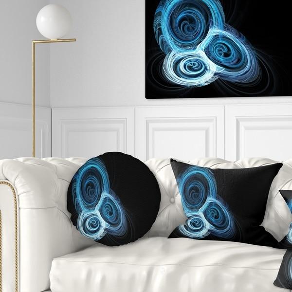Designart 'Blue Spiral Nebula on Black' Abstract Throw Pillow