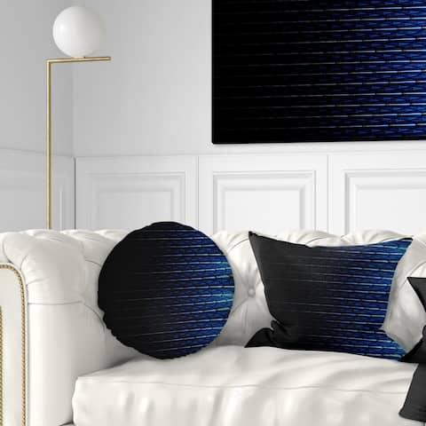 Designart 'Blue Symmetrical Fractal Flower' Abstract Throw Pillow