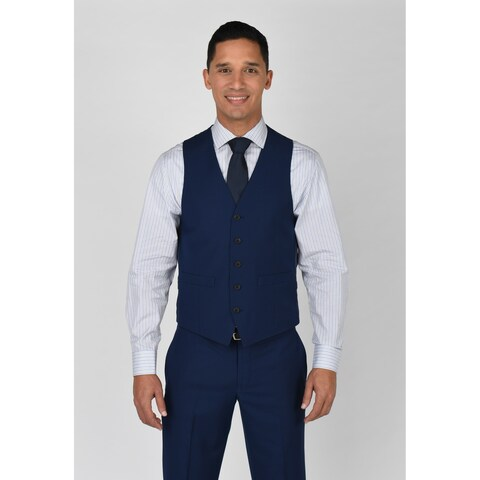 Kenneth Cole Reaction Modern Blue Suit Separate Vest