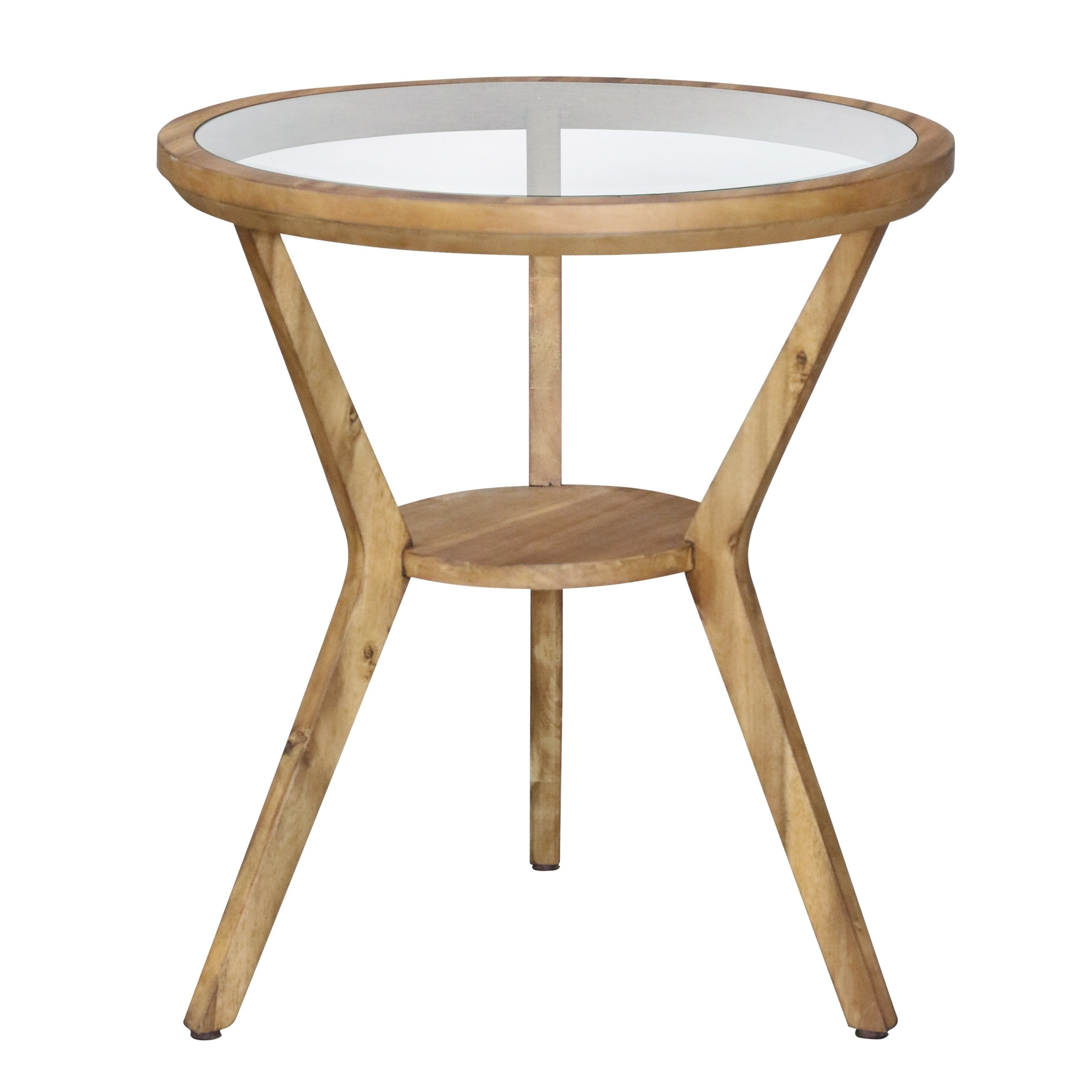 - Shop Round Glass Top Accent Table - Free Shipping Today