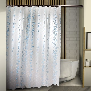 "InStyleDesign Bubble Shower Curtain 71"" x 71"" - blue bubble"