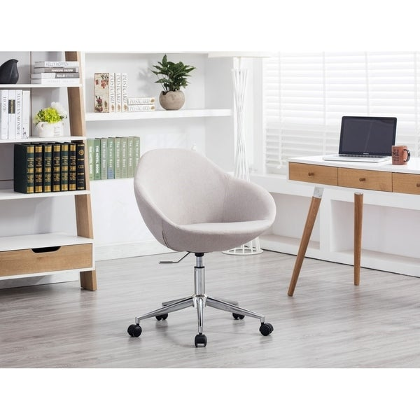 Shop Porthos Home Upholstered Office Chair On Wheels