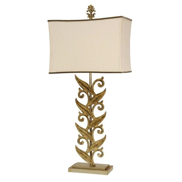 StyleCraft Sansa Cream Table Lamp - Beige Softback Fabric Shade