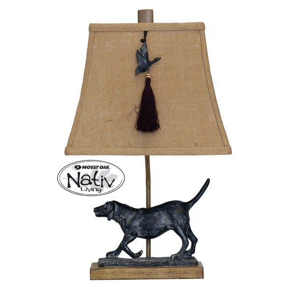 StyleCraft Toxey Bronze Accent Table Lamp - Beige Softback Fabric Shade