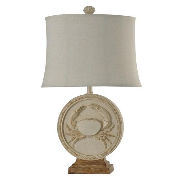 Whitestone Point White Table Lamp - White Softback Fabric Shade