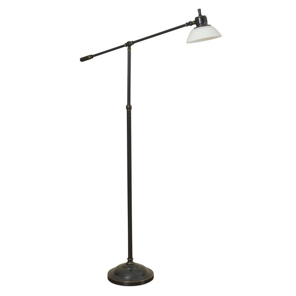 Russet Bronze Table Lamp - White Glass Shade