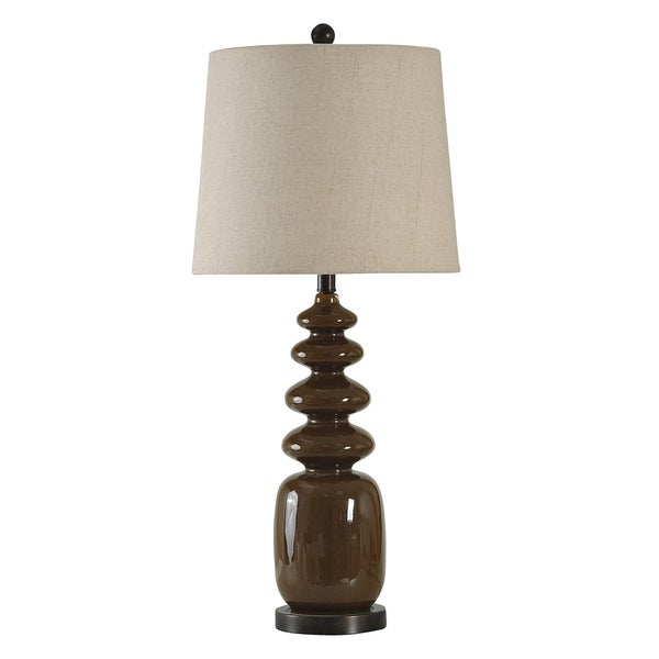 Hickory Table Lamp - Linen Hardback Fabric Shade