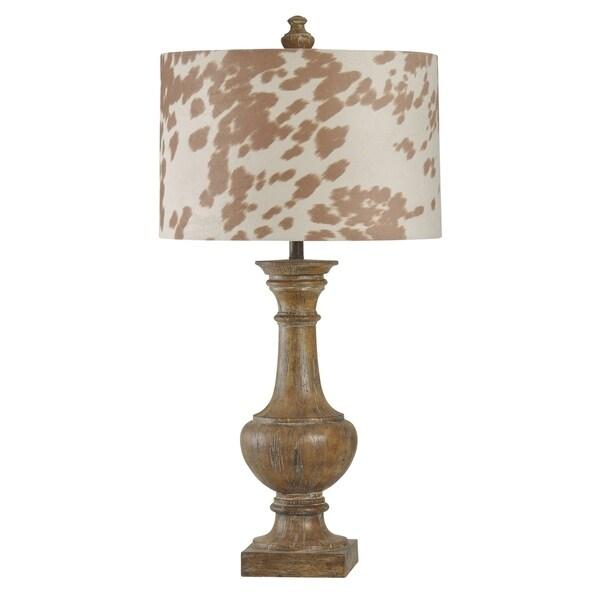 Cotton Wood Table Lamp - Designer Print Hardback Fabric Shade