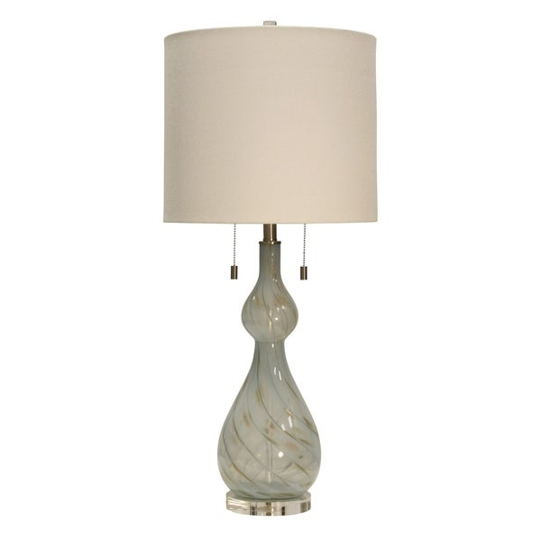 Bluegate Table Lamp - Cream Hardback Fabric Shade