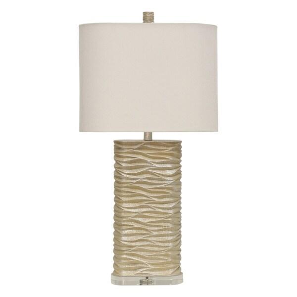Gabrielle Cream Table Lamp - White Hardback Fabric Shade