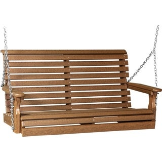 4' Rollback Swing in Natural Grain Colors - Recycled Plastic