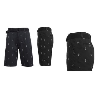 Men's Printed French Terry Shorts With Belt